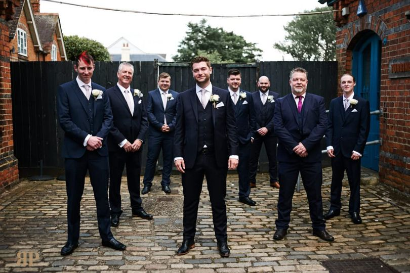 Groom and all the men