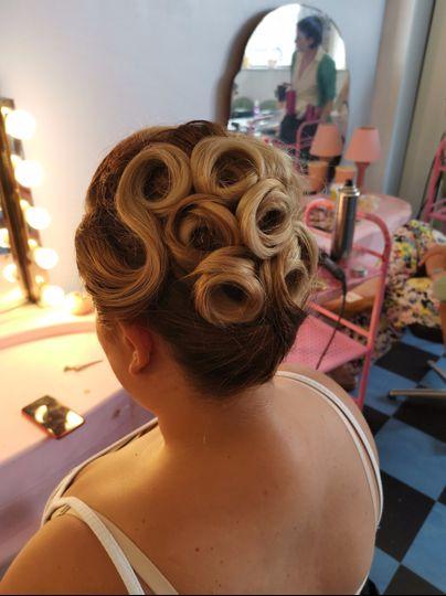 Vintage Styled Wedding Hair
