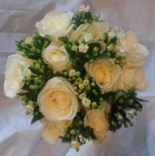 Rose and brodia bouquet