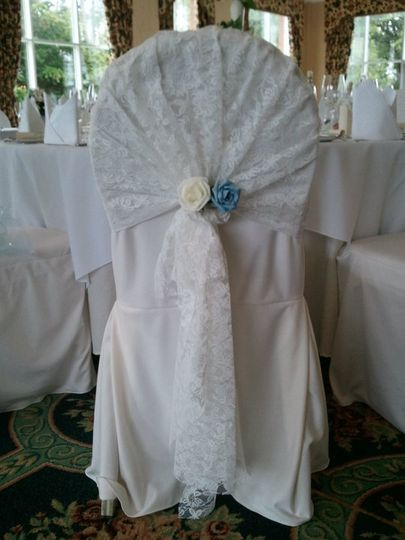Chair Cover Hire Lace Hoods