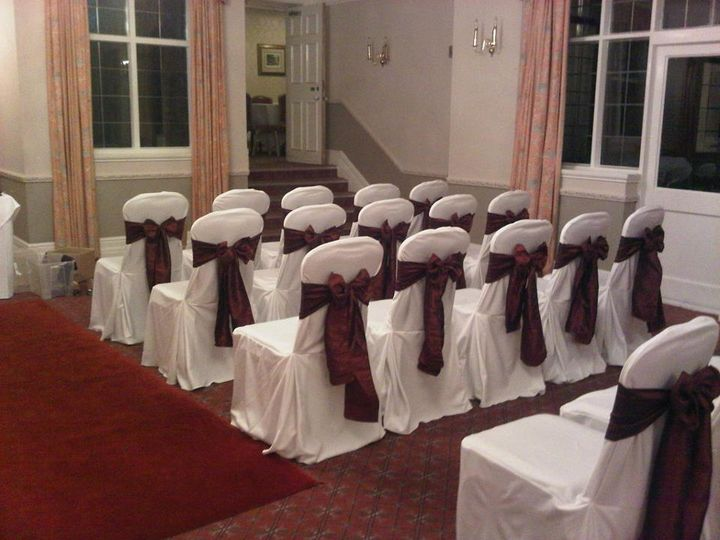 Chair Cover hire with Taffeta sashes
