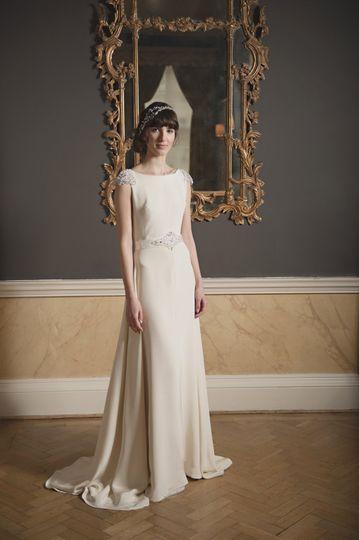 Heavy crepe silk dress