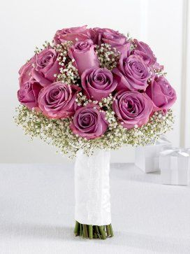 Lavender Rose and Gypsophila