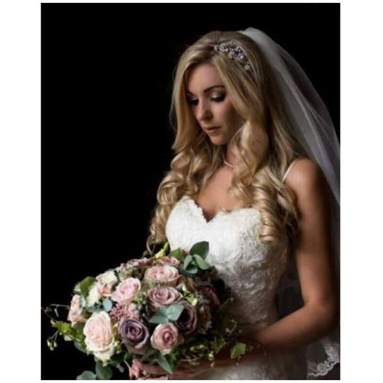 Bridal hair curled