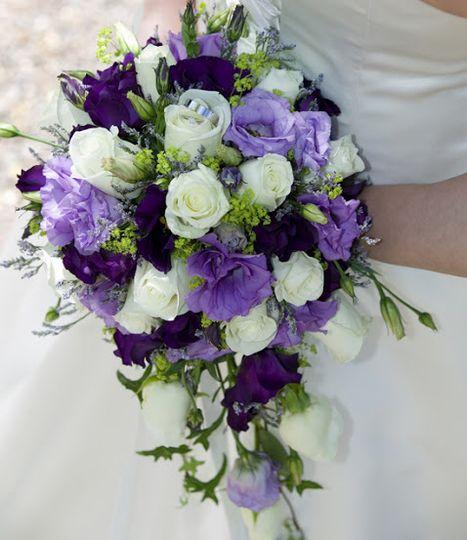 Purple & lilac bridal bouquet