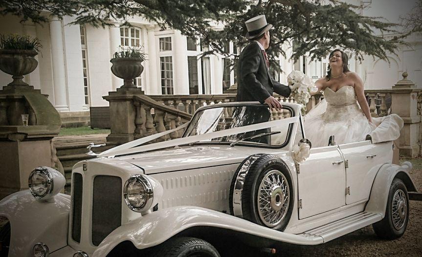 Brides wedding car