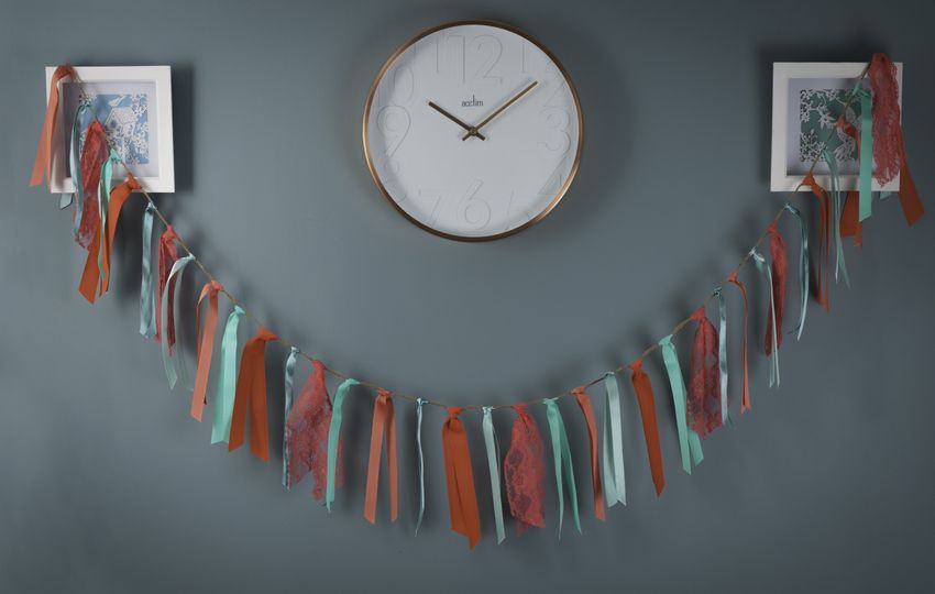 Coral & mint bunting