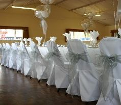 White cover & silver sash