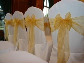 White cover & gold sash