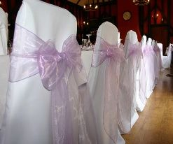 White cover & purple sash