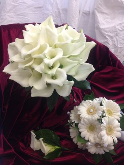 Bridal cala lilly bouquet
