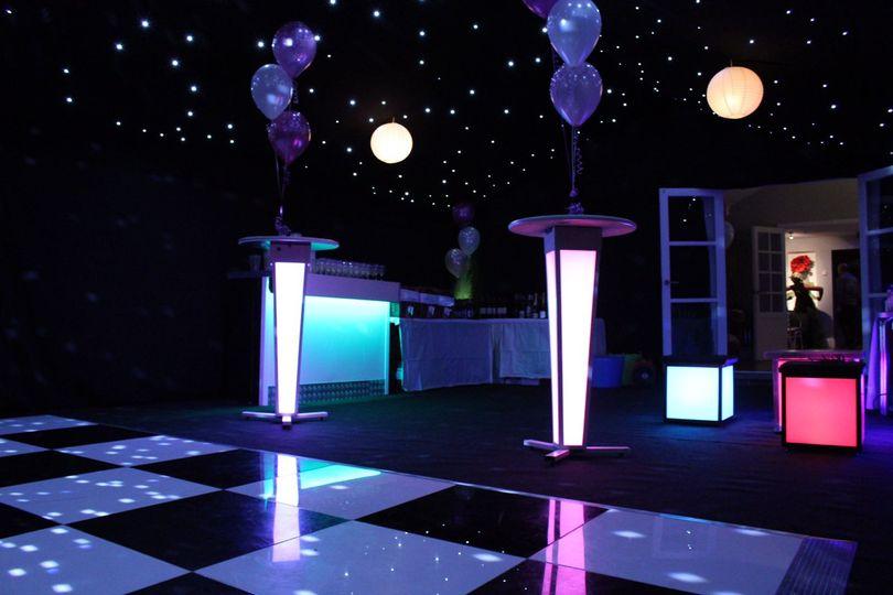 Dance floor & black starlight