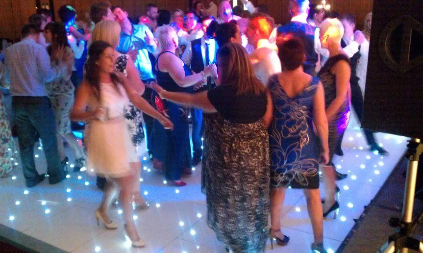 Wedding disco with dancefloor