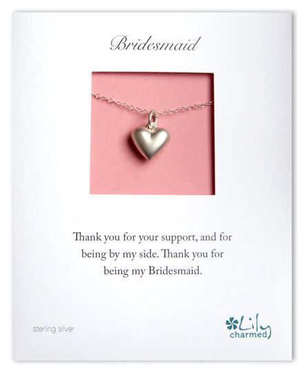 Bridesmaid Heart Necklace