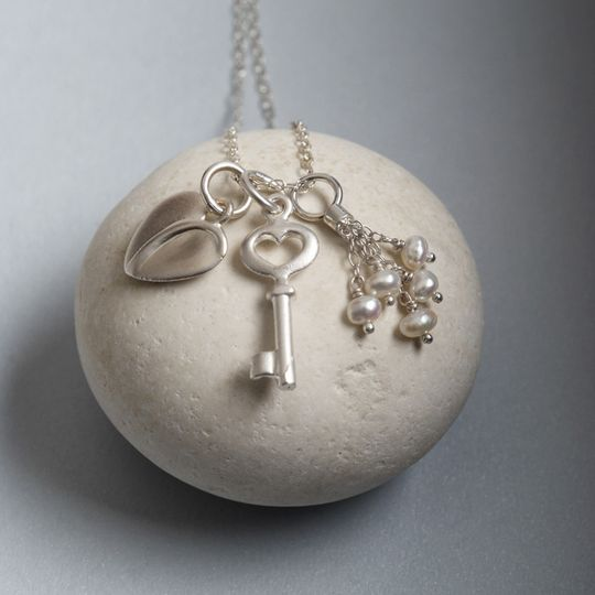 Design a Charm Necklace - add a personal Message