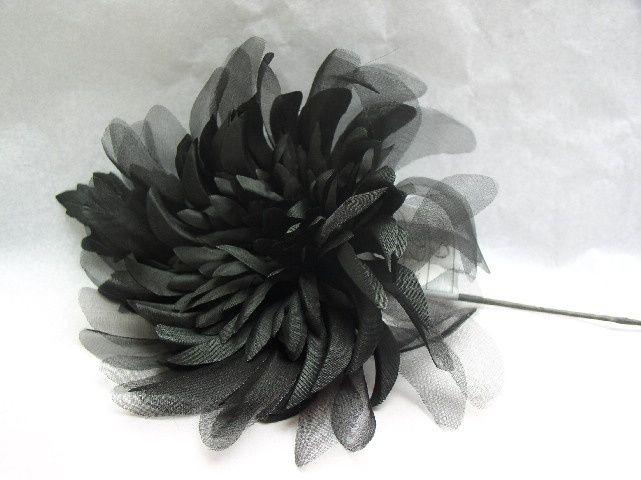 Black Silk Organza Flower From Abercorn Co Photo 7