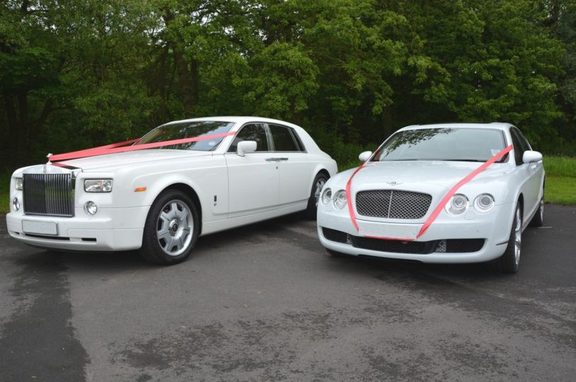 Bentley and RR at a wedding