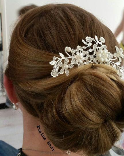 Bridesmaid bun