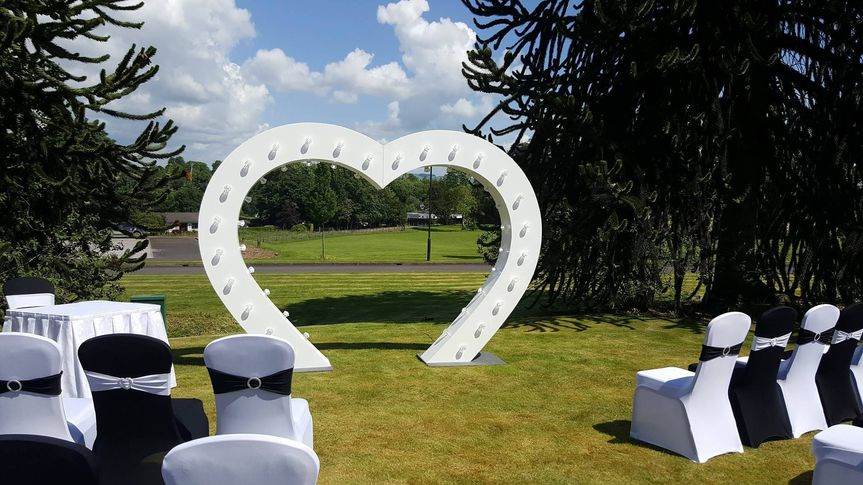 Heart outside ceremony