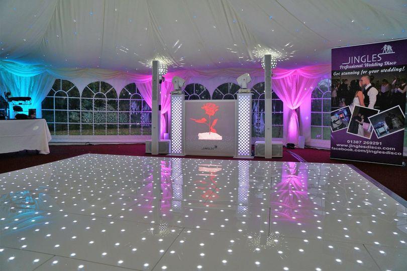 White starlit dancefloor