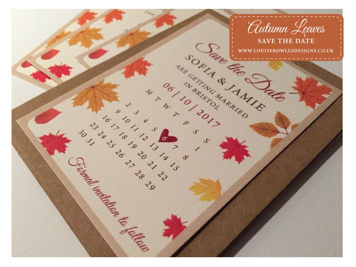 autumn save the dates from louise rowles designs photo 20