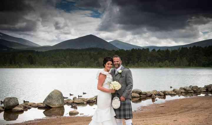 Bride & Groom at Loch Morlich