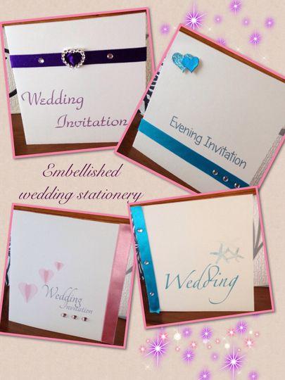 Embellished invitations