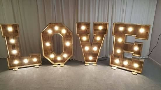 3ft Light up Love Letters