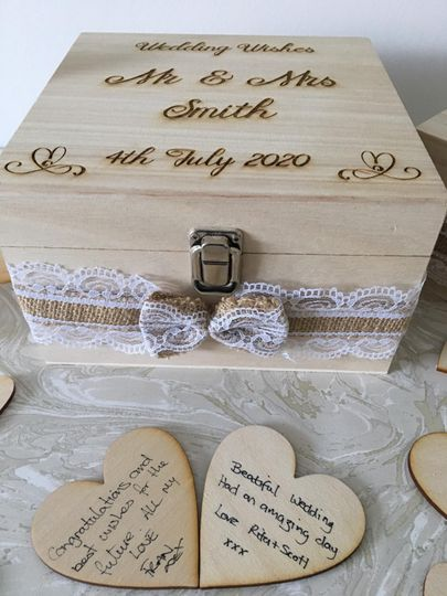 Wooden Box with Ribbon