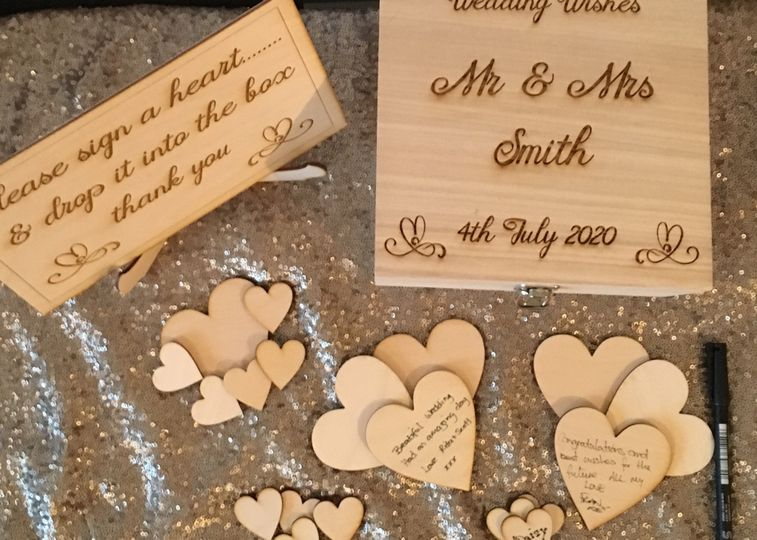 Rustic Wooden Guestbook Set