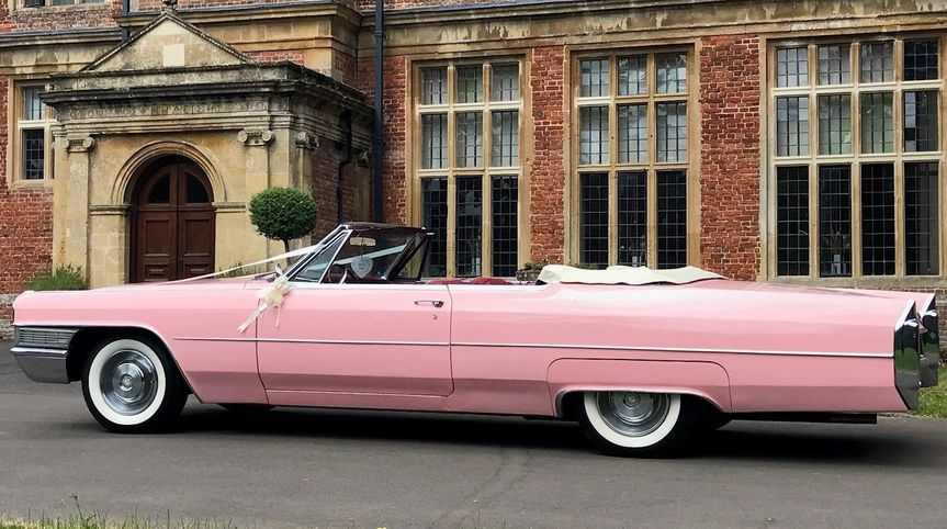 Pink Covertible 1965 Cadillac
