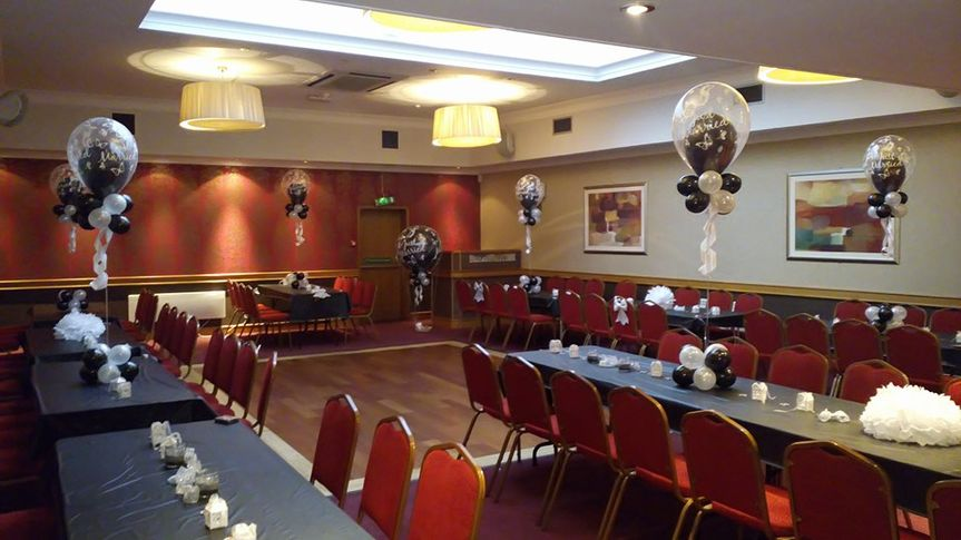 Balloons and hall setup
