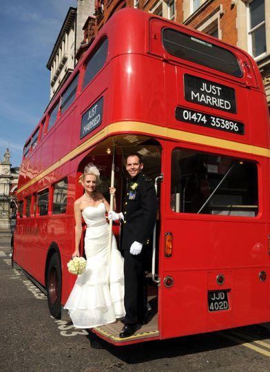 Wedding Couple on Routemaster
