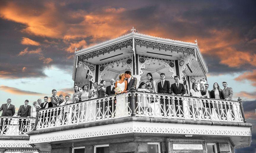 Brighton band stand wedding