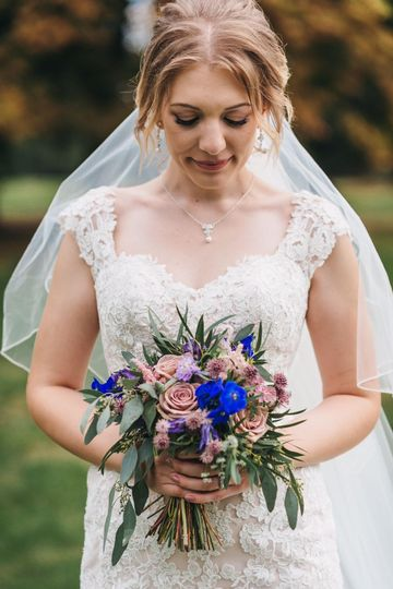 Blue and purples bouquet
