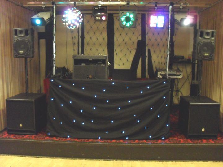Mobile disco set up