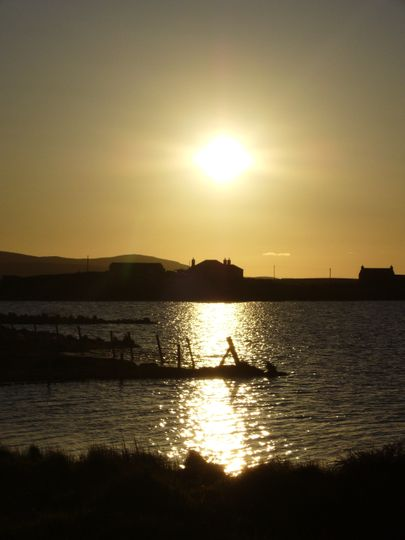 Sunset over Harray Loch