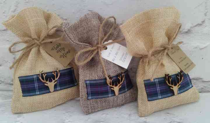 Hessian bag and Stags Head