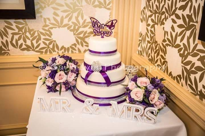 4 tier purple bands