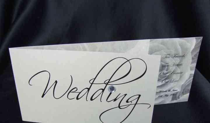 DL Wedding invitation with detachable RSVP