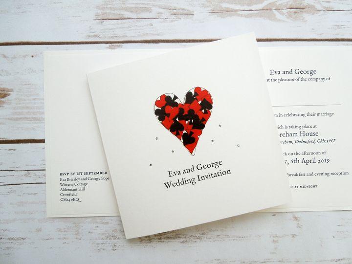 Black Jack Wedding Invitation