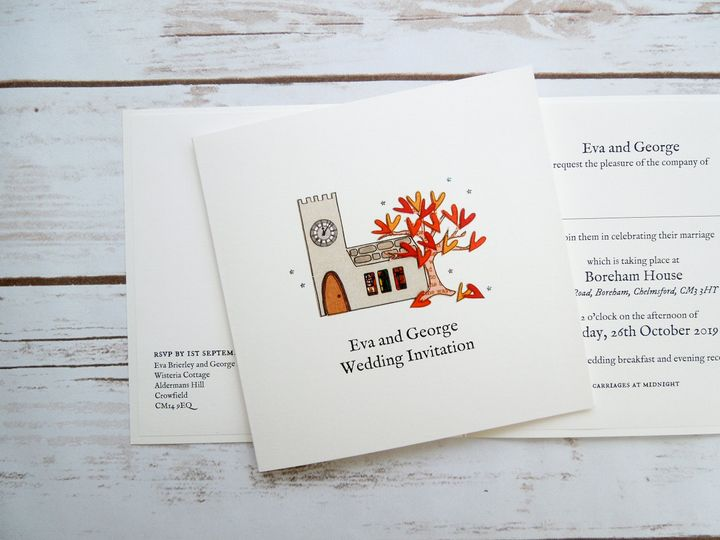Autumn Church Invitation