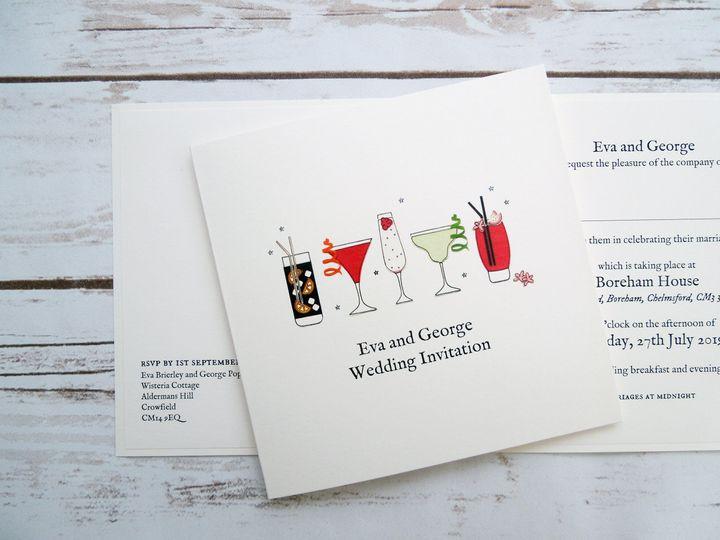Cocktails Wedding Invitation