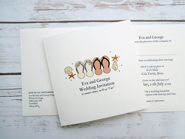 Flip Flops Wedding Invitation