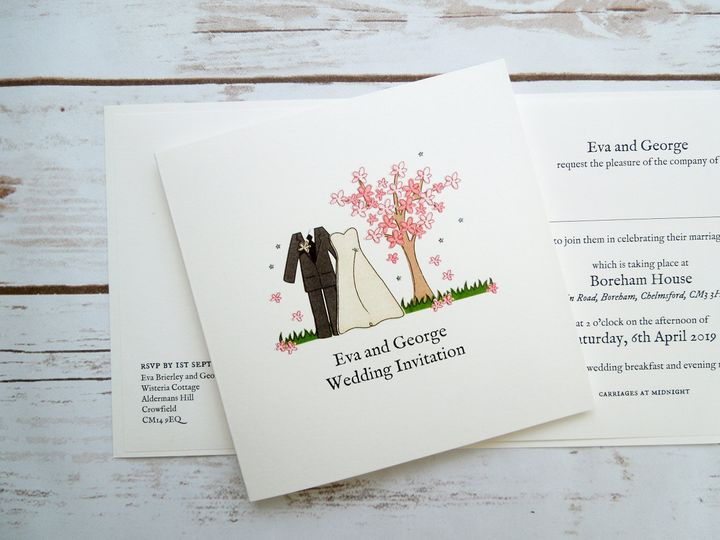 Mr and Mrs Spring Invitation