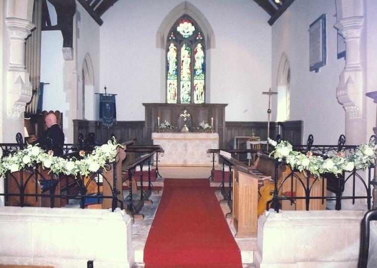 Inside Maisemore Church