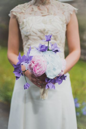 Paper peony and orchid bouquet