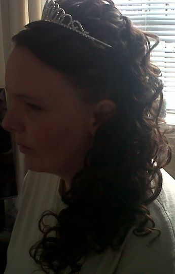 Bridal hair - extensions used from Xpress