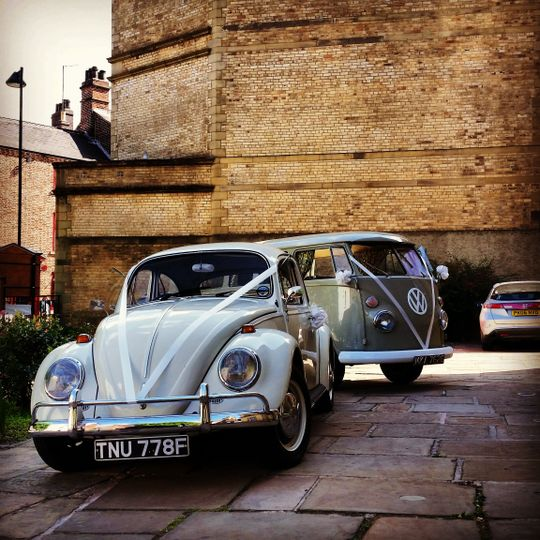 Beetle & camper wedding car