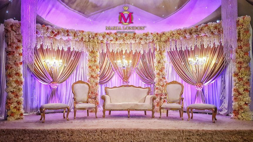 Maria london wedding stage